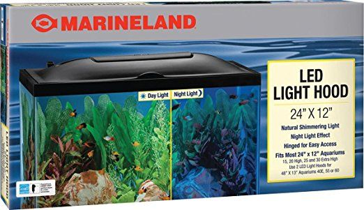 Amazon.com  Marineland LED Light Hood 24-Inch by 12-Inch  Aquarium Lights  Pet Supplies & Marineland LED Light Hood 24-Inch by 12-Inch | Best Aquarium Hoods ...