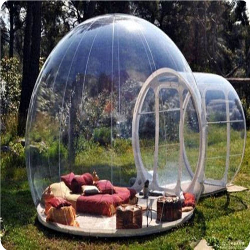 1PC outdoor c&ing bubble tentclear inflatable lawn Dome tentinflatable snow bubble tent & 1PC outdoor camping bubble tentclear inflatable lawn Dome tent ...