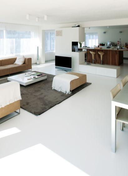 Gietvloer in de woonkamer 3 - Huis | Pinterest - Vloeren, Inspiratie ...