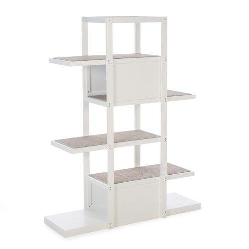 Boomer George Bookshelf Cat Tree 6025 In White