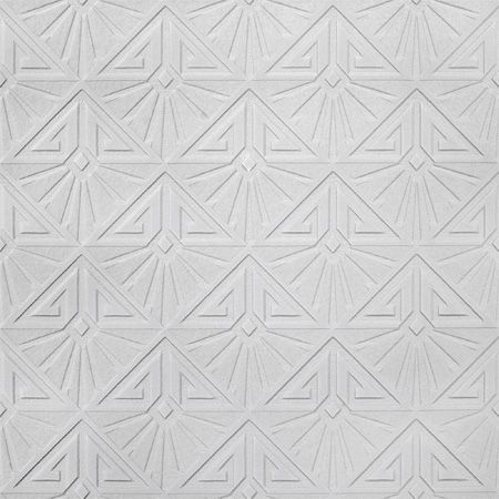 Anaglypta Luxury Vinyl White Art Deco Paintable Wallpaper | Departments | DIY at B&Q £8