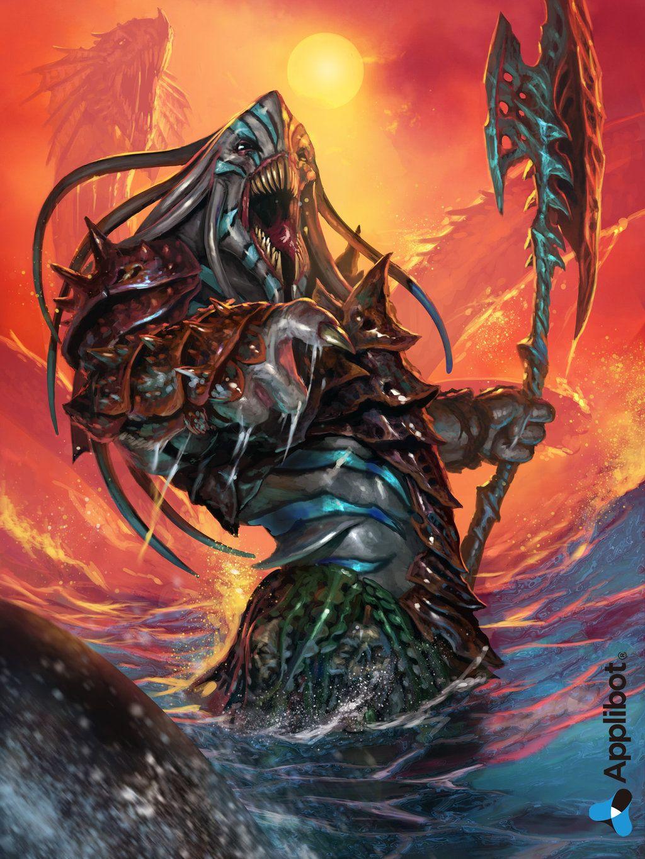 Leader of the Mermen Tribe-Advanced by DiegoGisbertLlorens.deviantart.com on @deviantART