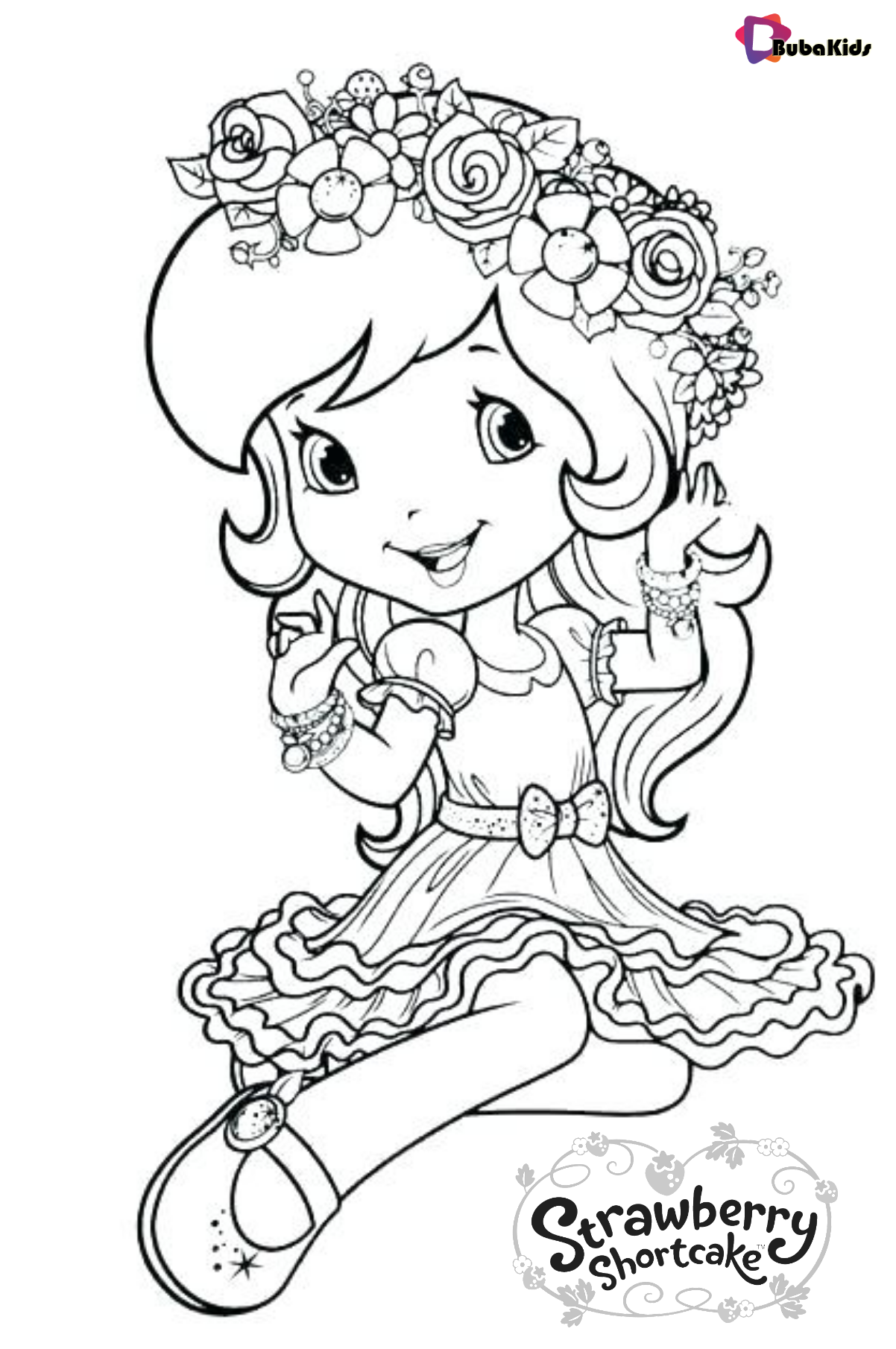 Free Printable Coloring Page Strawberry Shortcake Strawberry Shortcake Strawbe Strawberry Shortcake Coloring Pages Disney Coloring Pages Cute Coloring Pages