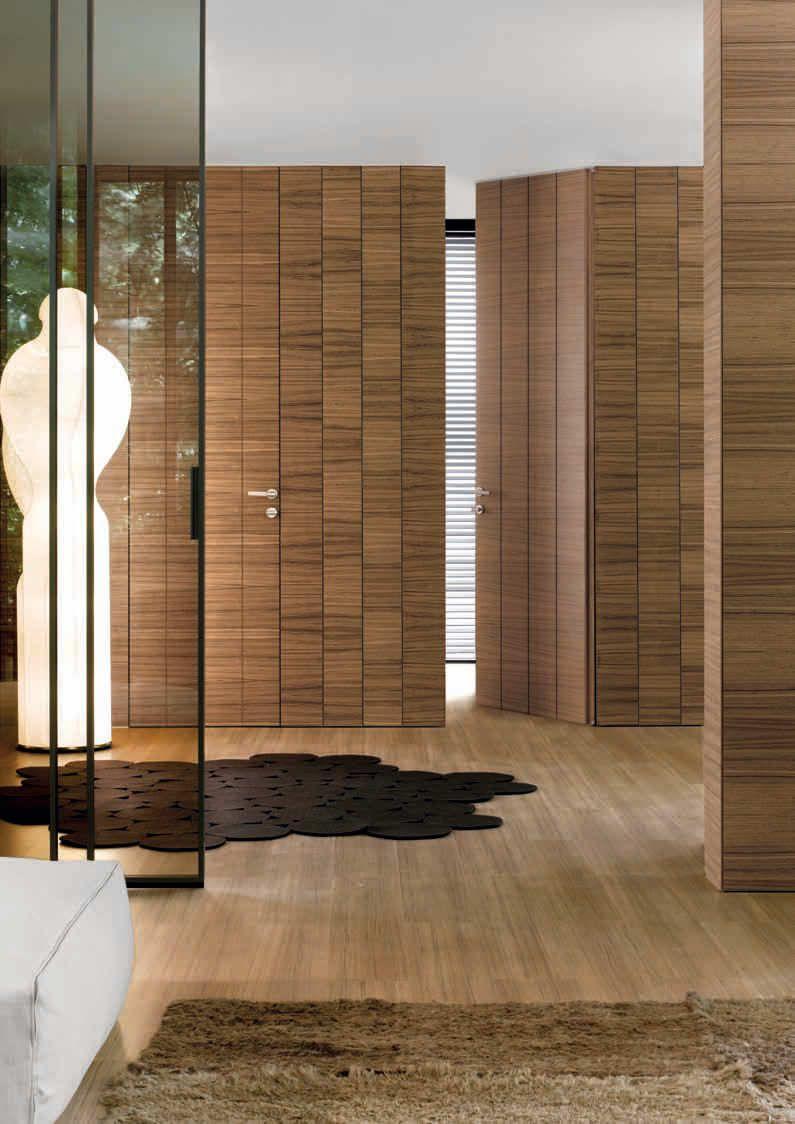 Porta battente per interni in legno - CONTINUUM by Antonio Citterio ...