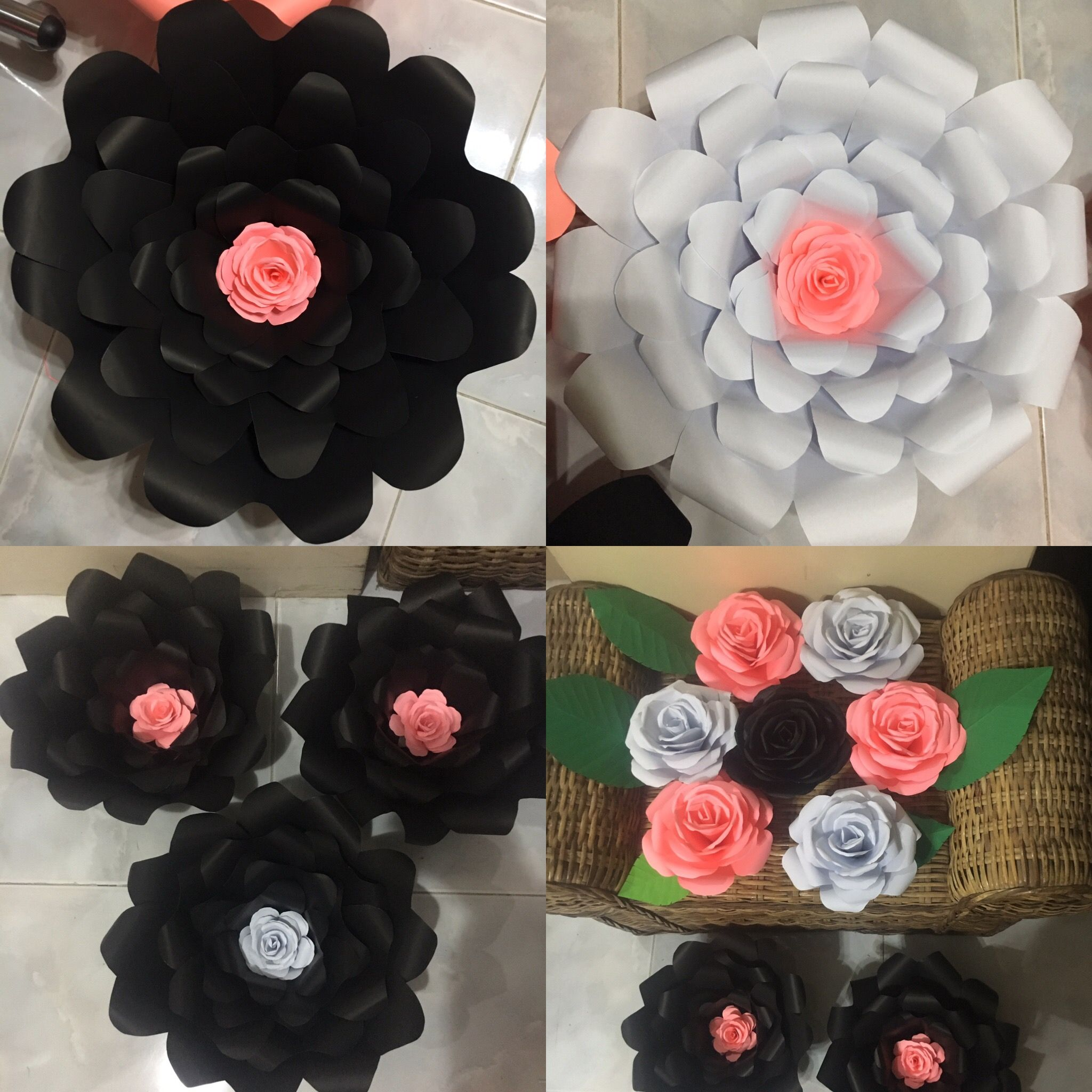 Black and white and coral paper flower by gelle diy hand made paper black and white and coral paper flower by gelle diy hand made paper flower by gellediy nursepreneur sideline passion pm me for inquiries mightylinksfo