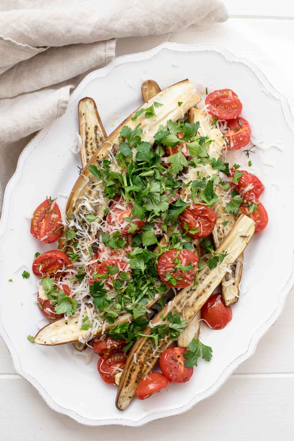 Roasted Sicilian Eggplant & Cherry Tomatoes with Basil