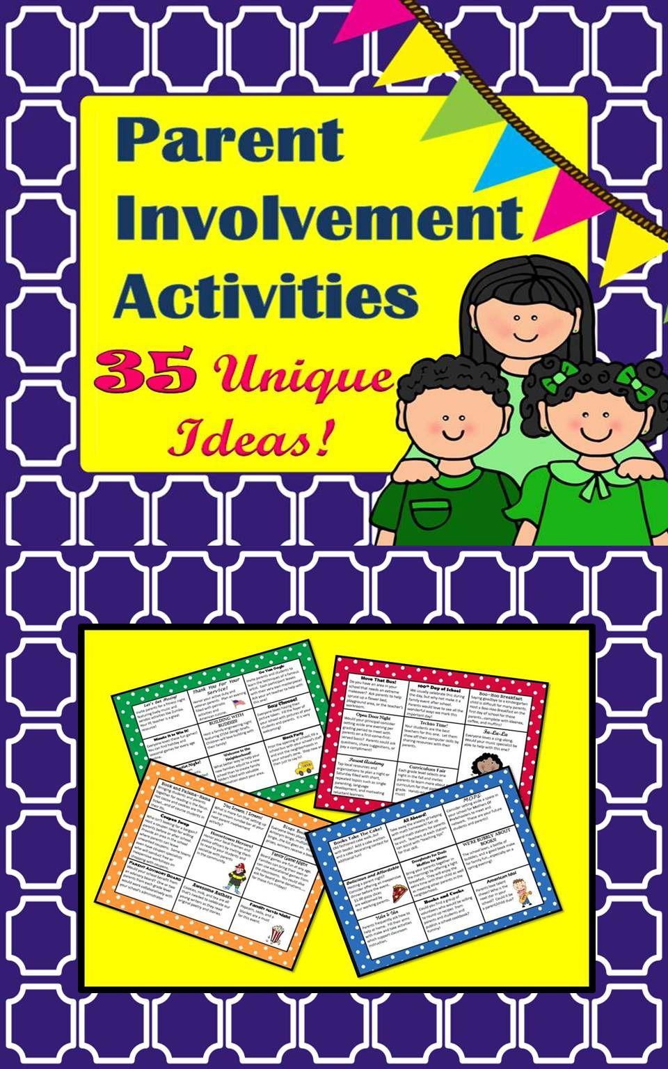 Parent Involvement Activities with Pizzazz | Parent involvement ...