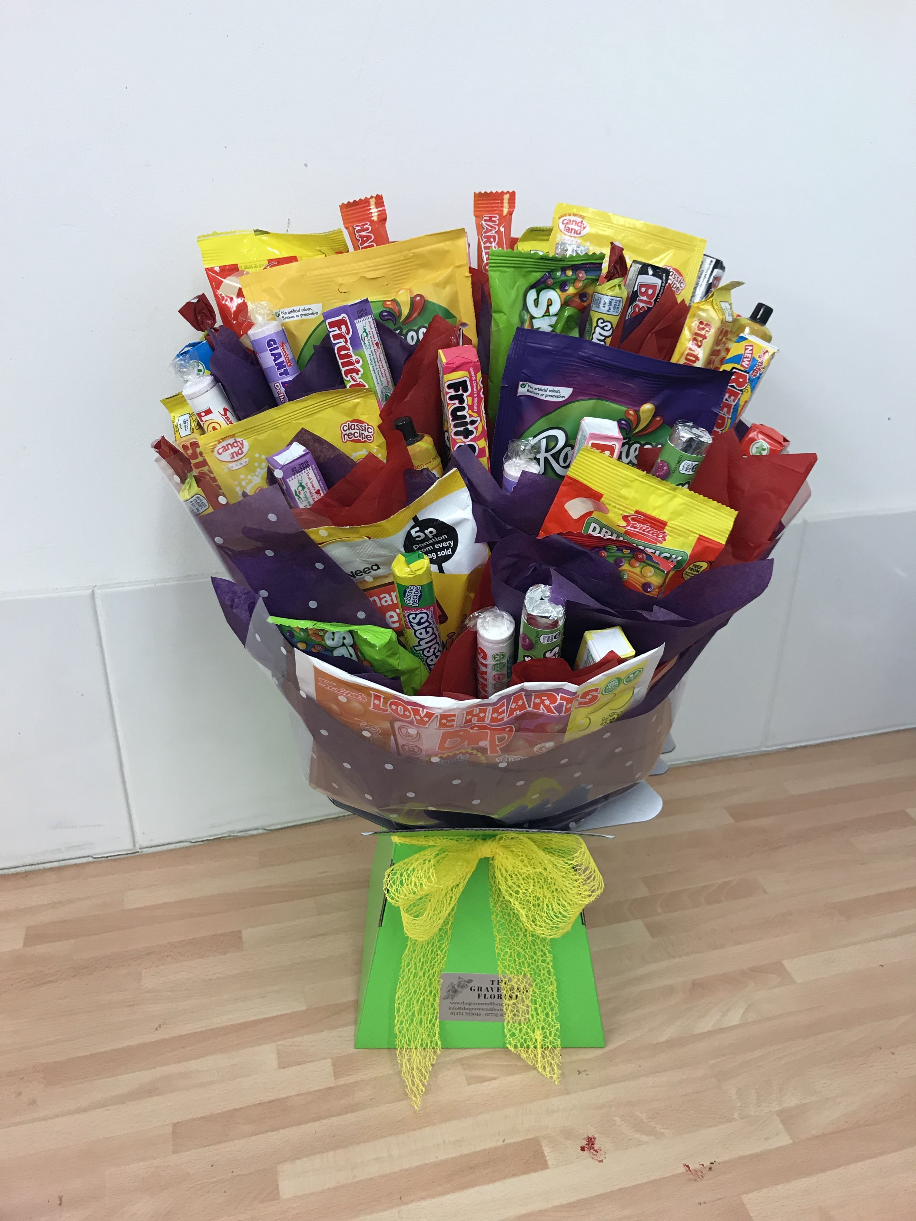 retro sweet bouquet created for a grown mans birthday on sweet dreams for your home plants decoration precautions and options id=48437