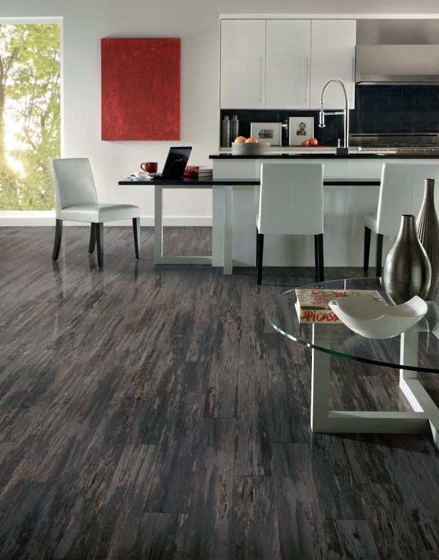 Armstrong Chelsea Park Mineral Forest 8 Mm Laminate Wood Look Mix Of Blacks Greys And Beige That It Actually Makes The Room L I V I N G R