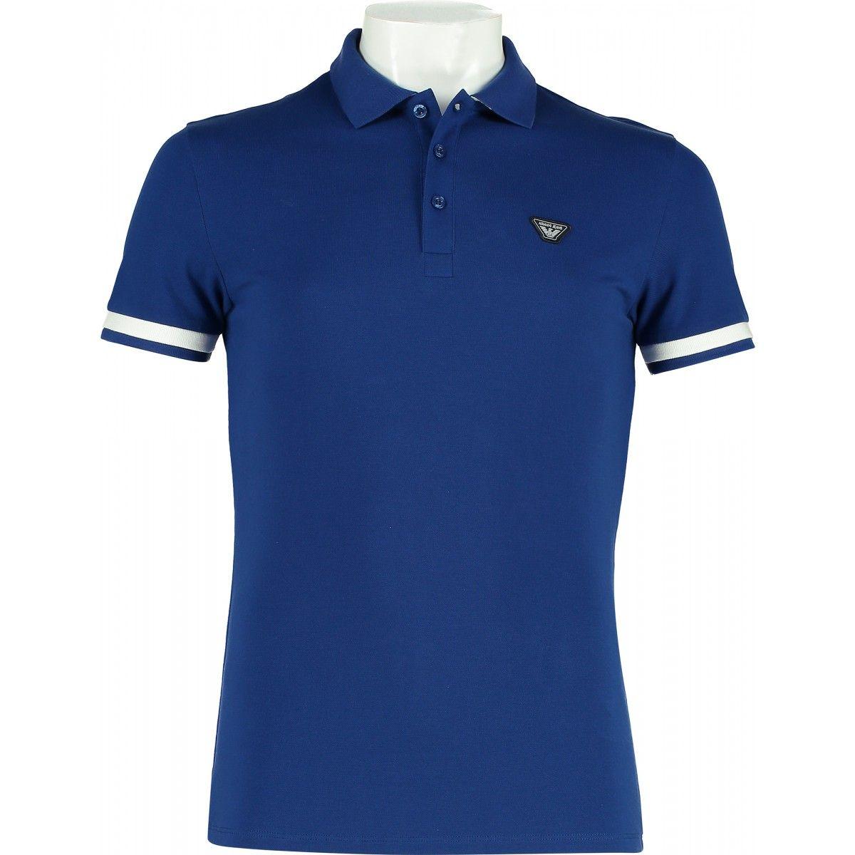 5e4e92e2 Armani Jeans Contrast Polo Shirt