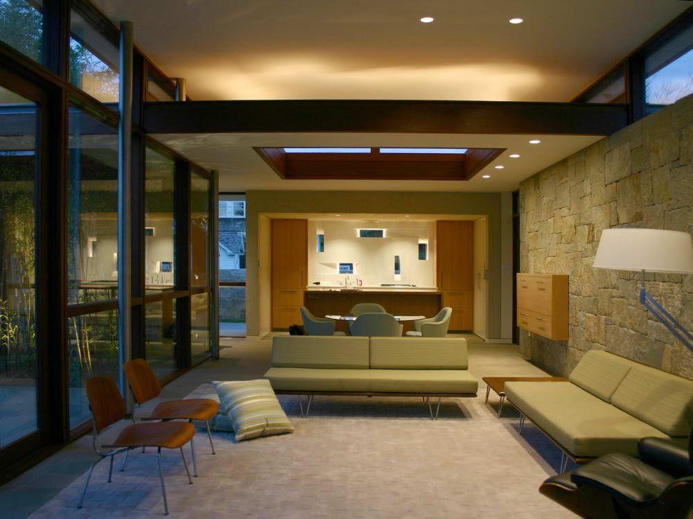 Maison bois et pierre Etats-Unis 16 salon Pinterest Salons