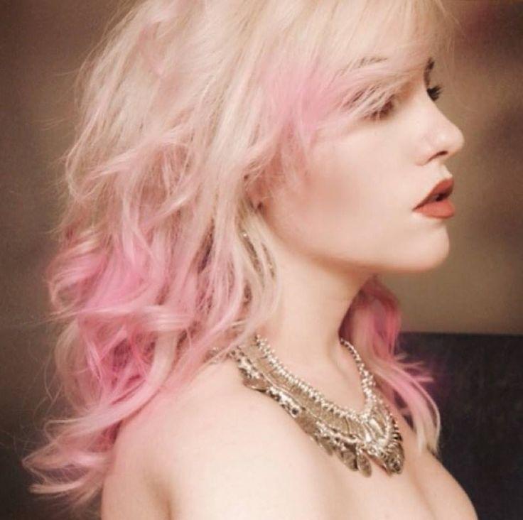 Platinum Hair With Cotton Candy Pink Rainbow Hair Pinterest