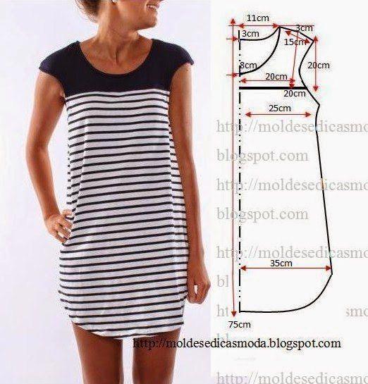 Moldes de vestidos cortos para embarazadas