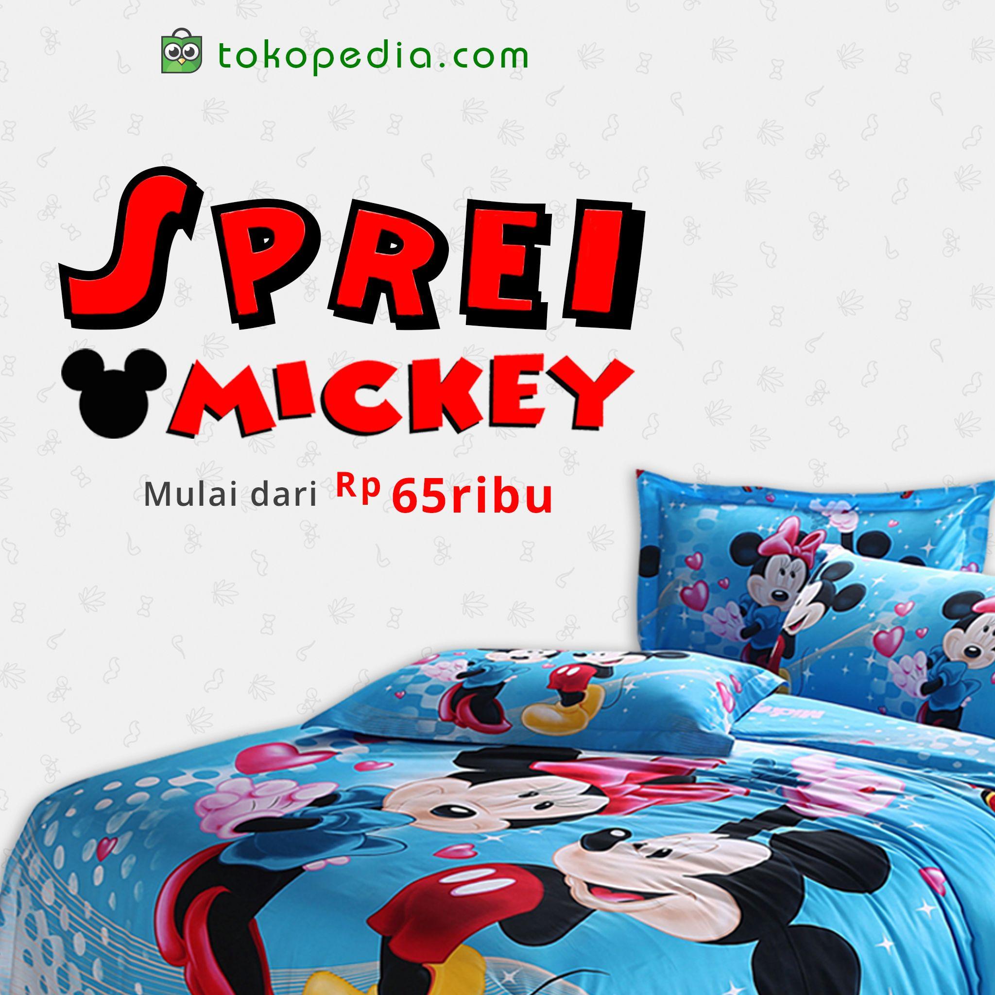 Yuk Pakai Sprei Mickey Mouse Lucu Untuk Melapisi Tempat Tidur Si
