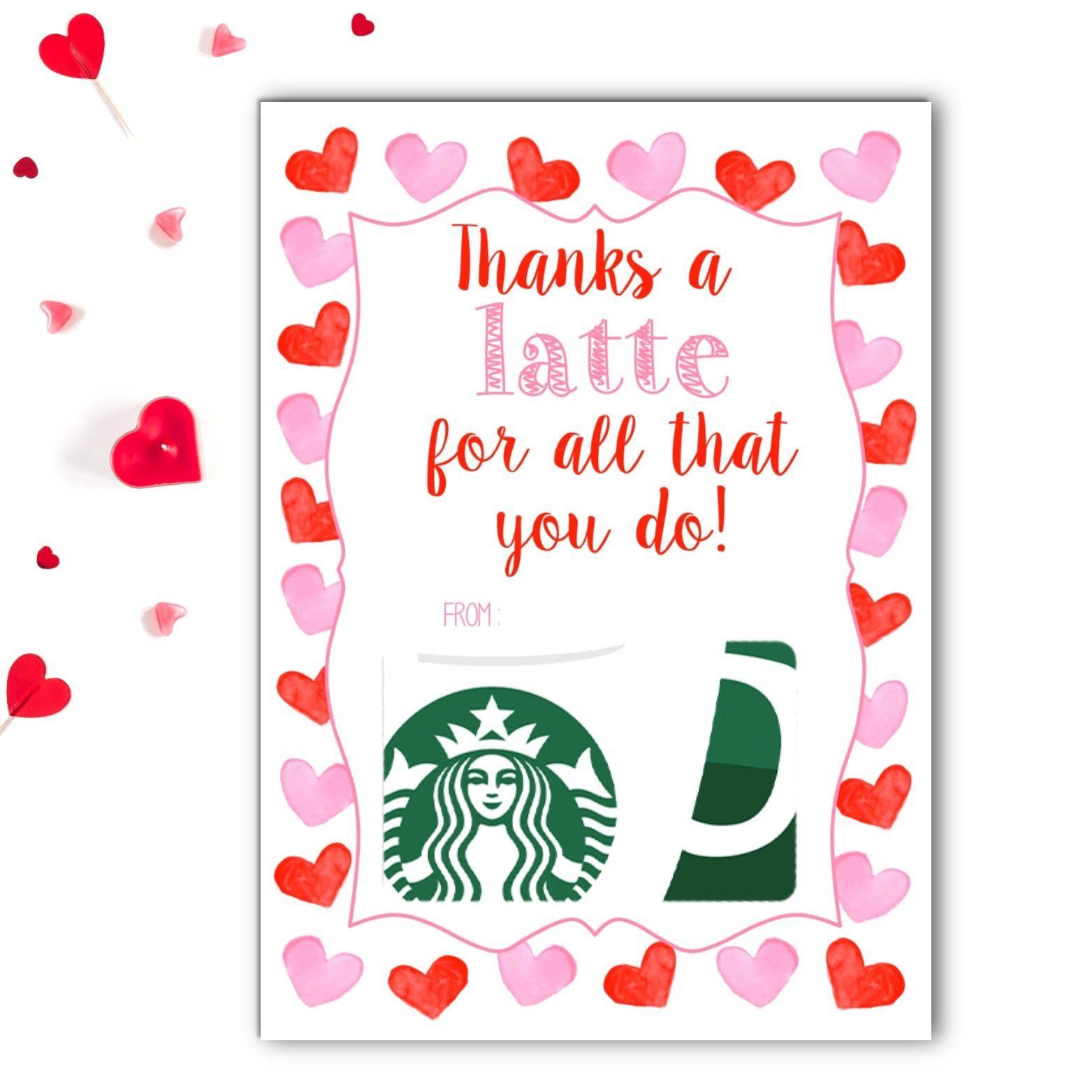 latte valentine's gift card holder with images  teacher