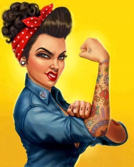 pin up girl power