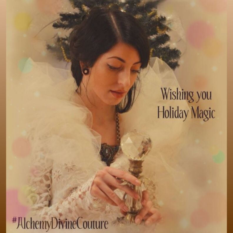Wishing you holiday magic this season  #fall #winter #holidays #gratitude #reflection #qualitytime #admiringbeauty #festive #gowns #pretty #crystal #scepter #tule #AlchemyDivineCouture