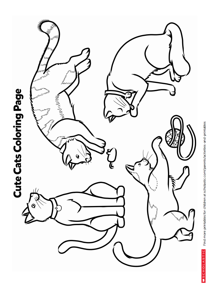 Turn Saturday Into Caturday With This Printable Coloring Activity