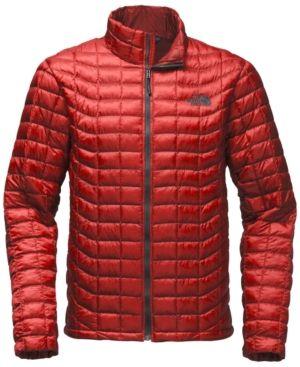 The North Face Men S Thermoball Quilted Jacket Red Xxl Mit Bildern Steppjacke Herren Steppjacke Daunenjacke