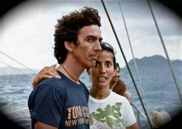 George and Olivia Harrison in the Bahamas, 1970s