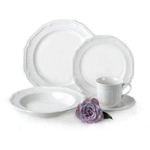 Dinnerware Set For 8 Service Porcelain Dishwasher Microwave Safe Antique White  sc 1 st  Pinterest & Dinnerware Set For 8 Service Porcelain Dishwasher Microwave Safe ...