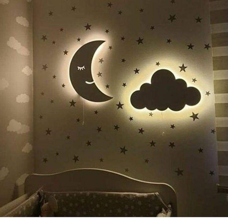 Set Of 2 Nursery Wall Light Nursery Lighting Night Light Etsy In 2021 Night Light Kids Nursery Lighting Kids Room Lighting
