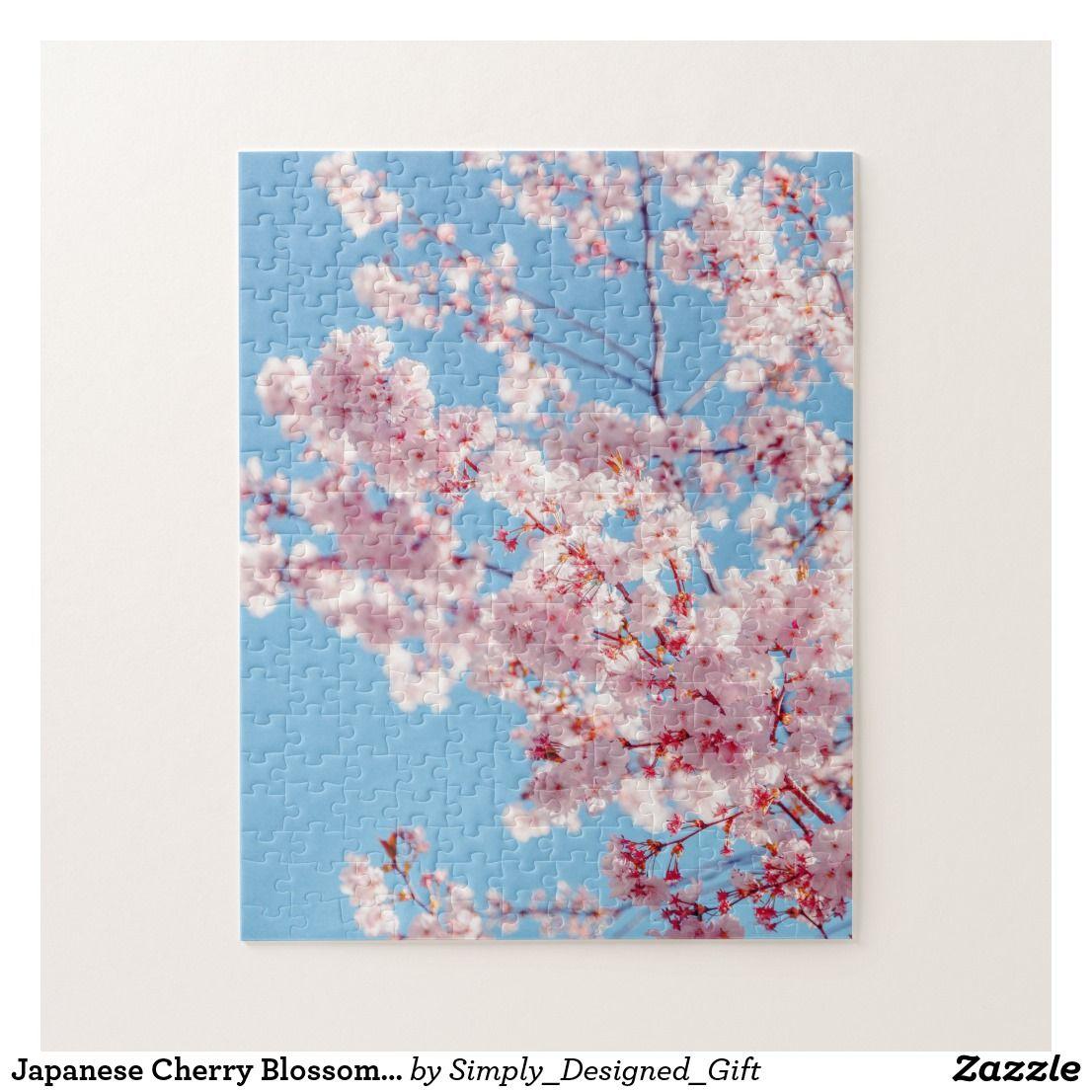 Japanese Cherry Blossom Tree Jigsaw Puzzle Zazzle Com In 2021 Cherry Blossom Painting Cherry Blossom Tree Cherry Blossom Art