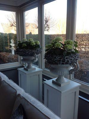 In landelijke sfeer als alternatief voor een vensterbank for Decoratie voor in de vensterbank