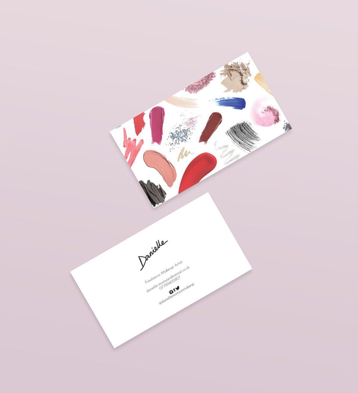 Ausgefeilte Make Up Artist Business Karten Vektor Mit Foto
