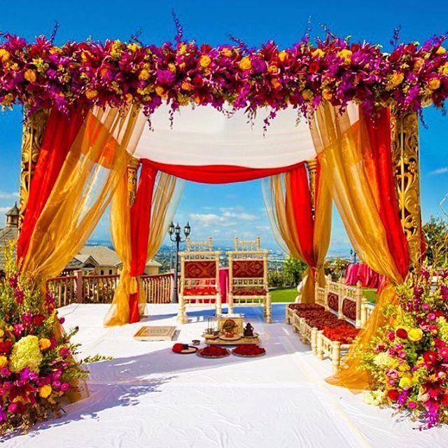Goals Outside Mandap Indian Wedding Decorations Wedding Mandap