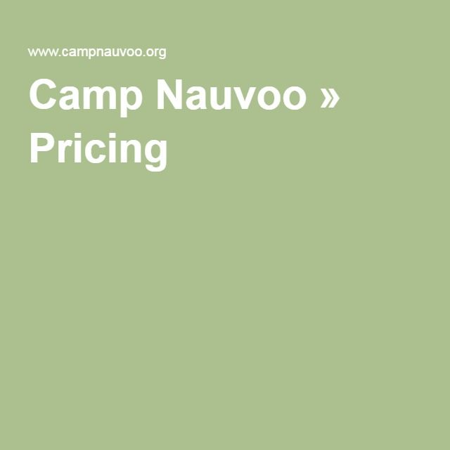 Camp Nauvoo » Pricing
