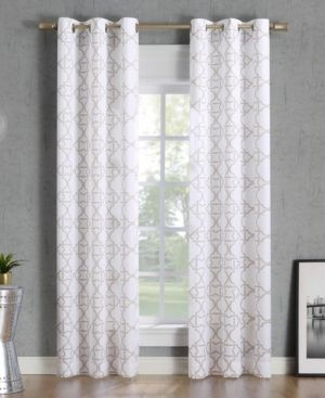 Lichtenberg No 918 Barkley Trellis Semi Sheer Grommet Curtain