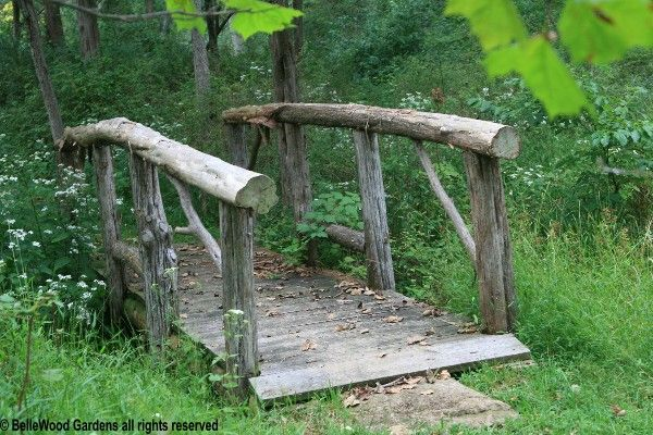 small bridges for gardens outside the perimeter deer fence past a bridge over a small. Black Bedroom Furniture Sets. Home Design Ideas