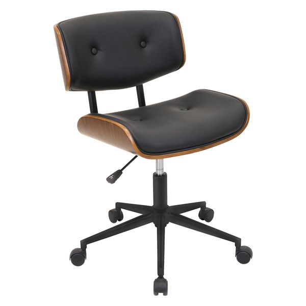 lombardi mid-century modern office chair | overstock shopping