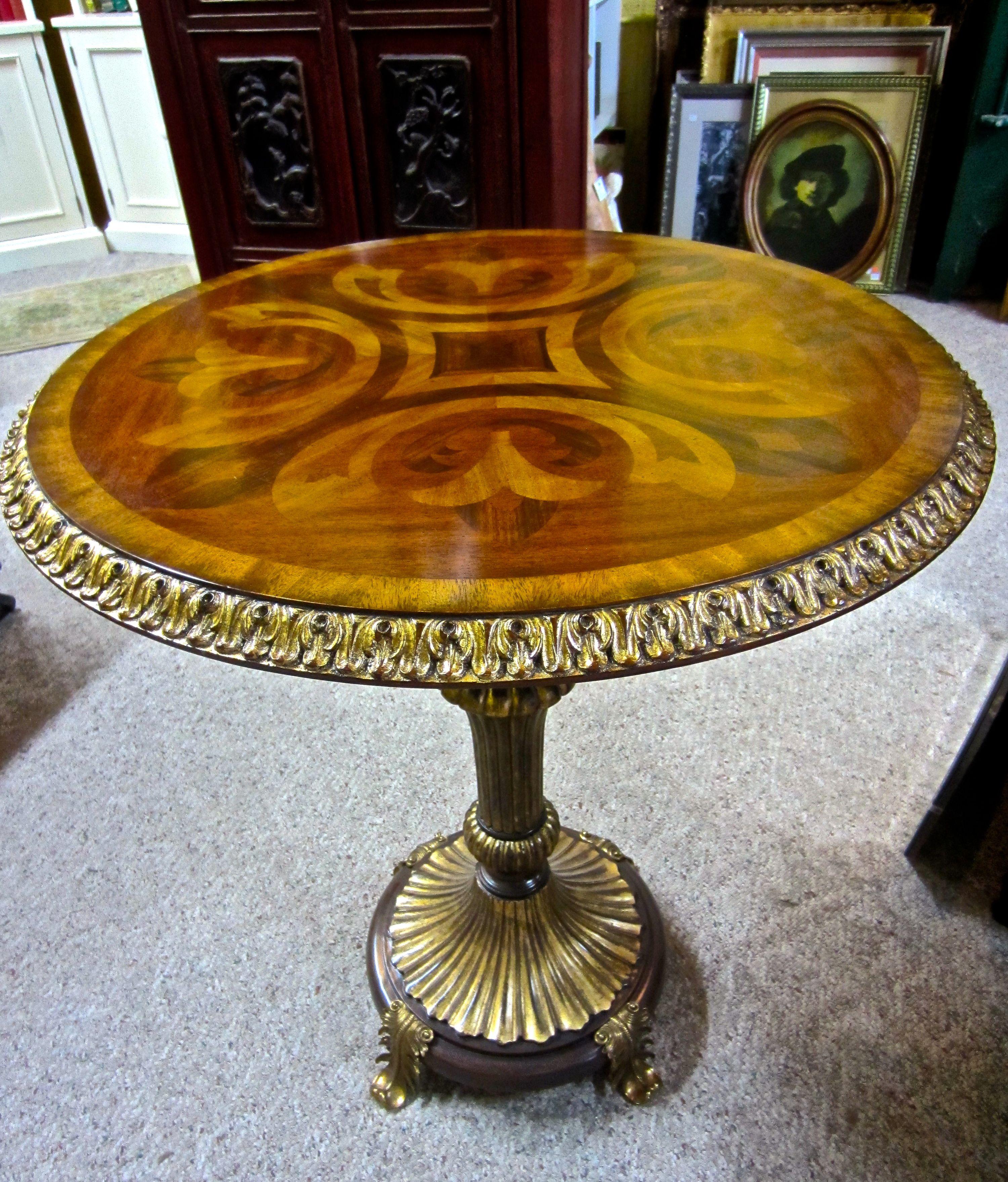 Maitland Smith Mahogany Pedestal Table 595 Antique