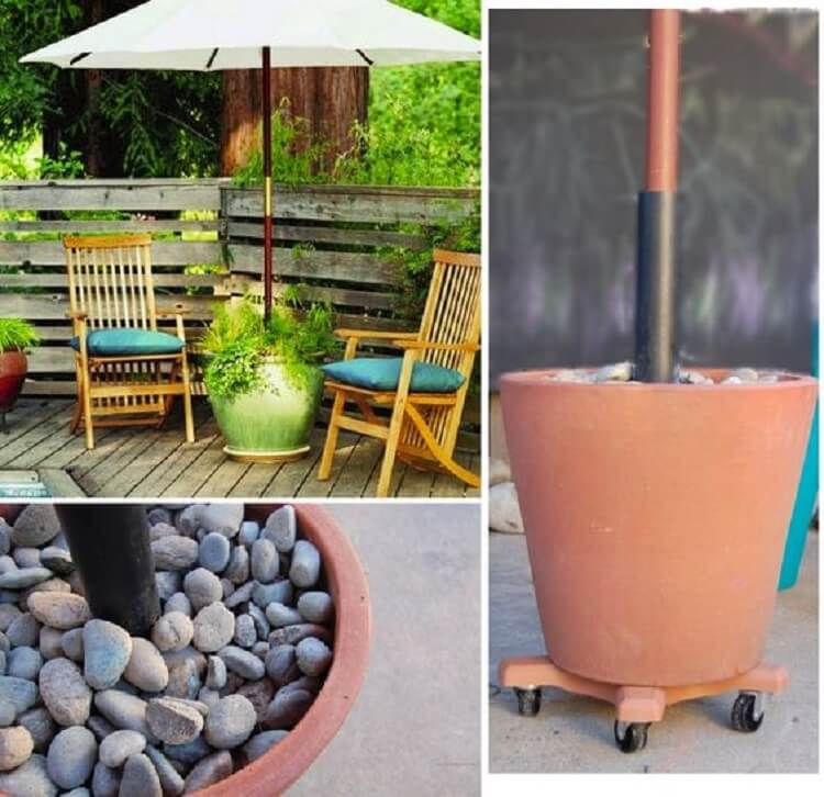 Diy Patio Umbrella Stand 4 Suggestions Large Patio Umbrellas Backyard Oasis Diy Diy Patio