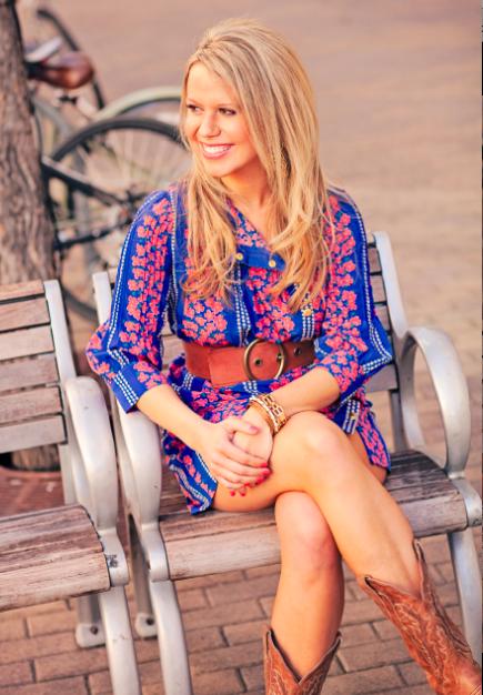 0ead4b248f1 belted shirt-dress and cowboy boots.  instagram  Lauren Davison Lefevre