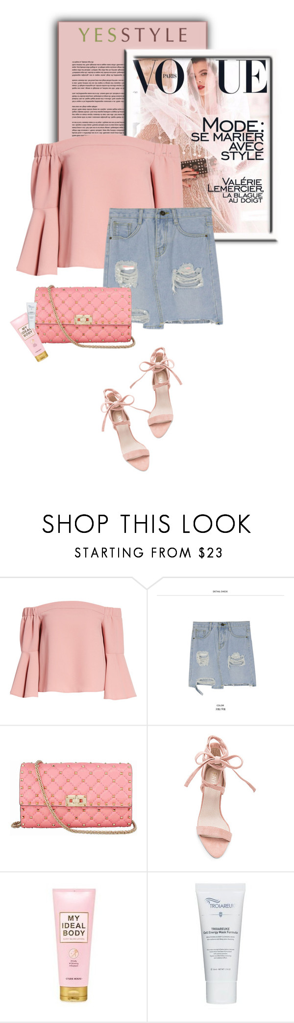 """""""YESSTYLE.com"""" by monmondefou ❤ liked on Polyvore featuring Topshop, Pufii, Valentino, Etude House, Summer and yesstyle"""