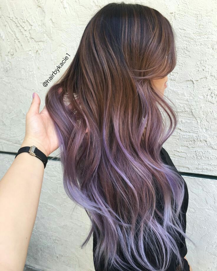 Perfect Brown To Purple Fade Hair Styles Balayage Hair Long Hair Styles