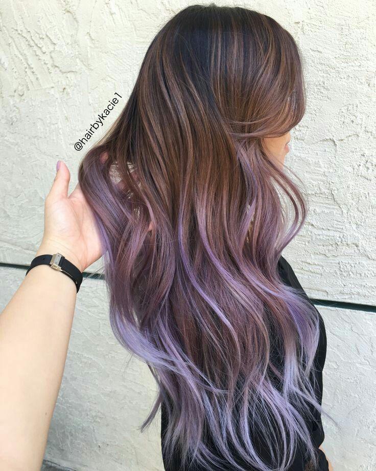 Perfect Brown To Purple Fade Hair Styles Balayage Hair Long Hair Styles