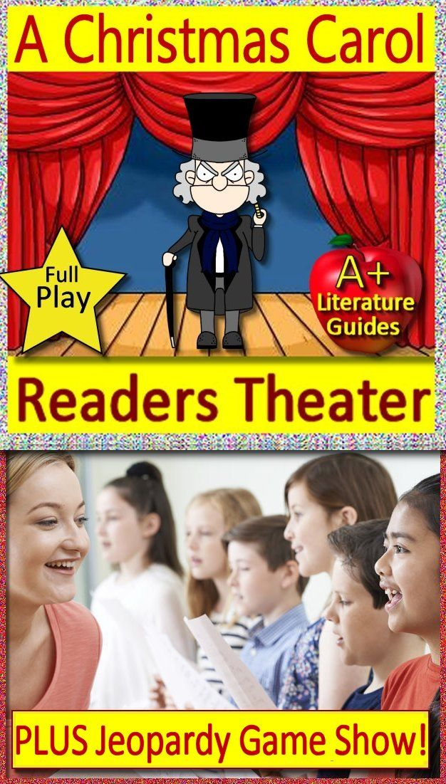 A Christmas Carol Readers Theater (Play, Script) AND A Christmas Carol Game   Christmas carol ...
