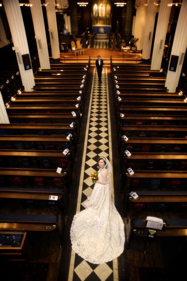 Wedding at St John's The Evangelist Church, Edinbu