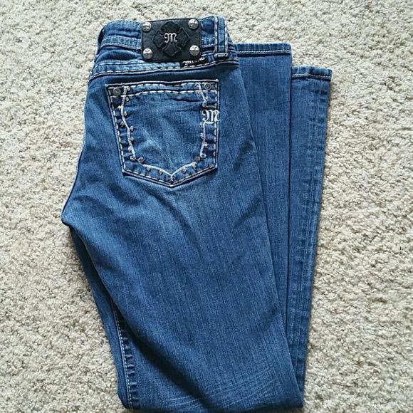 Miss Me bootcut jeans. Sz 30 Sz 30x33. Excellent condition.  No missing stones Miss Me Jeans Boot Cut