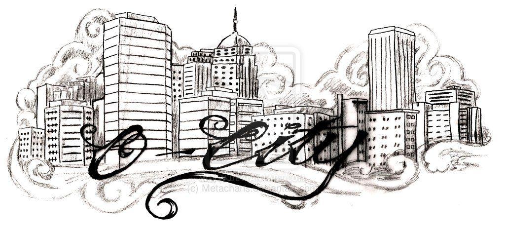 Oklahoma city skyline tattoo by metacharis on deviantart for Tattoo oklahoma city ok
