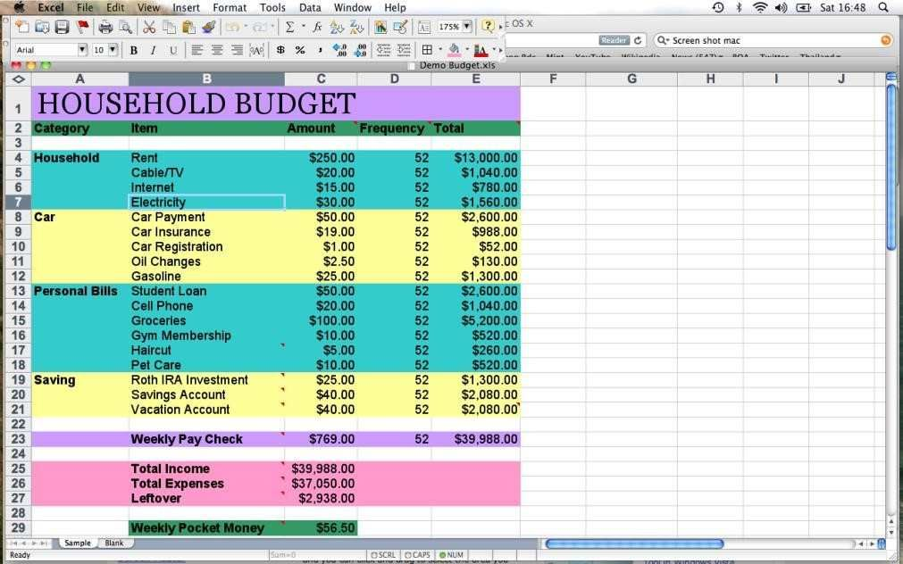 Yearly Household Budget Template Budget Planner Template Is A