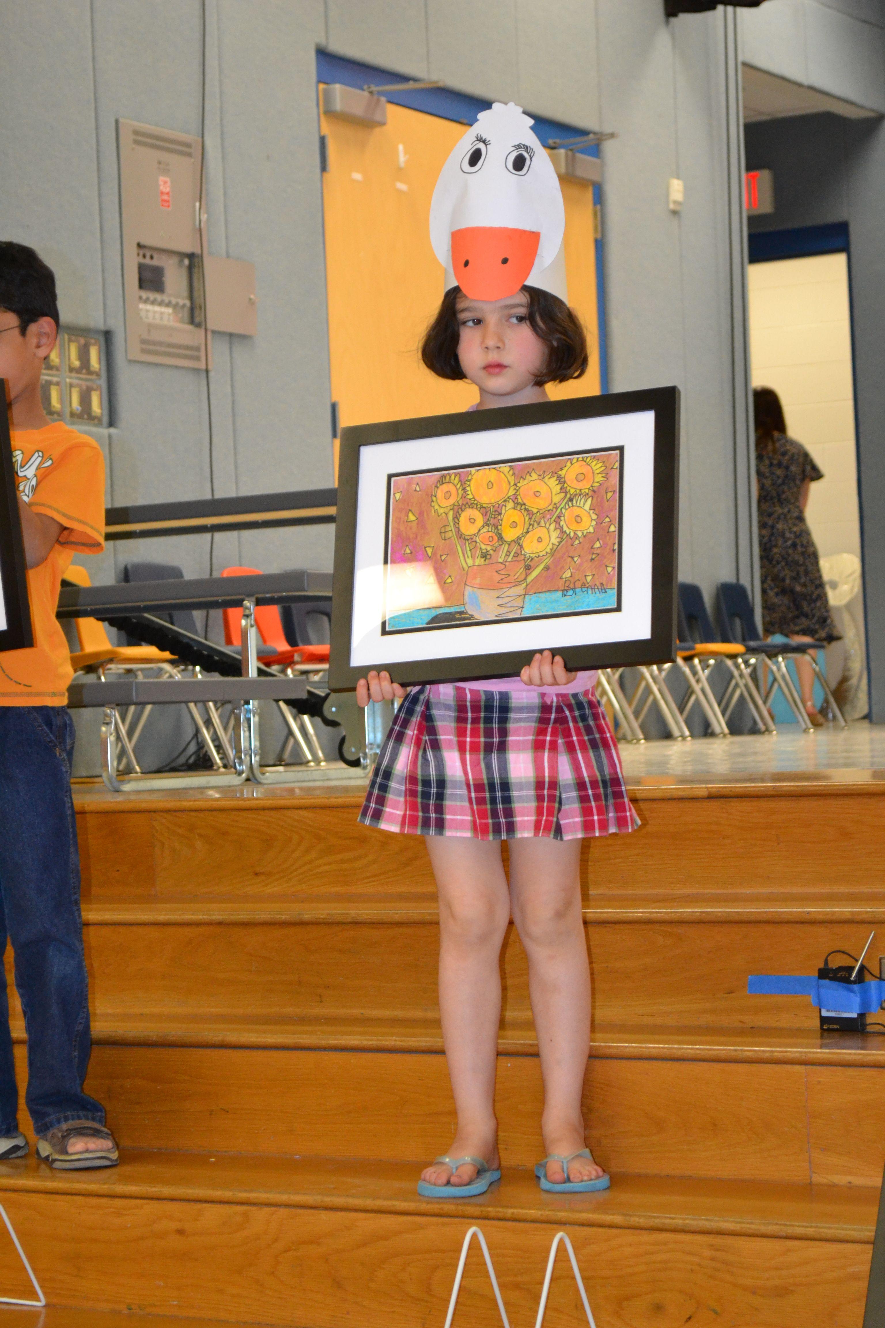 1st grade Van Gogh's Sunflowers. KidsArt Fair donated 10 free frames for my school's art fair! Cindie Onofre