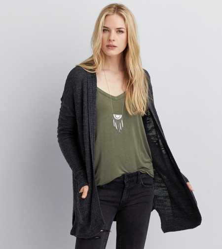 AEO Textured Hooded Cardigan | Aerie/ American Eagle | Pinterest ...