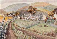 Carlops village by William George Gillies