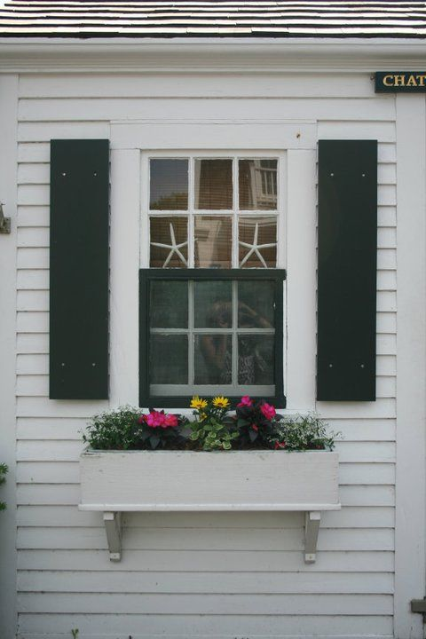 Starfish And Window Box Cape Style Homes Cottage Exterior Seaside Living