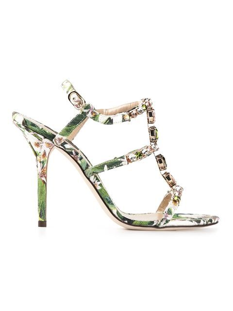 Shop Dolce & Gabbana floral print sandals in Biondini Paris from the world's best independent boutiques at farfetch.com. Over 1000 designers from 300 boutiques in one website.